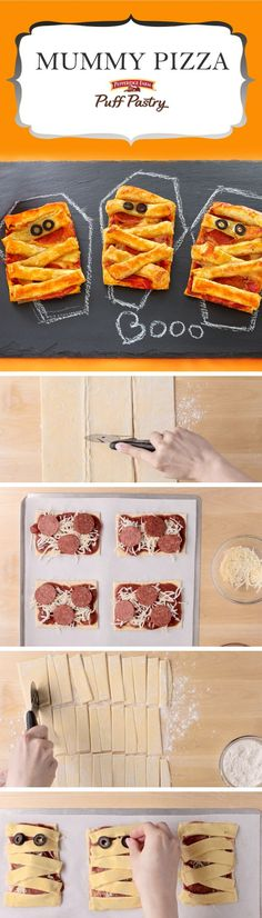 Pepperidge Farm Puff Pastry Mummy Pizza Puffs Recipe. This wickedly ...
