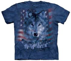 Patriotic Wolfpack T-Shirt by The Mountain available from the Wolf Den Store
