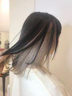 Two Color Hair, Hidden Hair Color, Hair Color Streaks, Peekaboo Hair Colors, Under Hair Color, Hair Dyed Underneath, Aesthetic Hair, Asian Hair, Diy Hairstyles