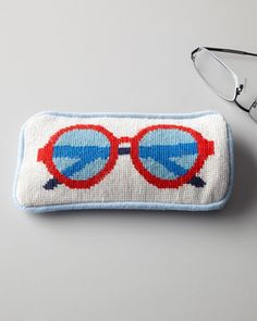 Needlepoint Eyeglass Case by Jonathan Adler at Neiman Marcus.