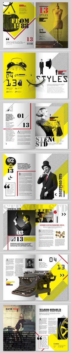 13 Styles Magazine Design // by Tony Huynh via behance