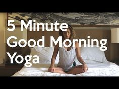 5 Minute Gentle Morning Bed Yoga - YouTube