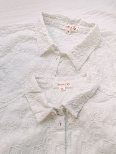 Cotton shirt embroidered with flowers. Limited edition --- Chemisier MERCI en coton brodé de fleurs. Edition limitée