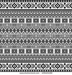 Find Seamless Tribal Texture stock images in HD and millions of other royalty-free stock photos, illustrations and vectors in the Shutterstock collection. Doodle Patterns, Tribal Patterns, Zentangle Patterns, Graphic Patterns, Mandala Art Lesson, Mandala Drawing, Etnic Pattern, Pattern Design, Mandala Pattern