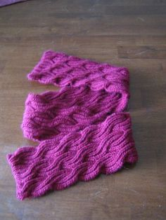 Reversible Cabled Brioche Stitch Scarf | FireFlower Knits