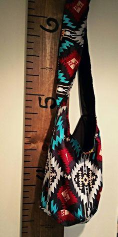 af9dcd8585 Cross body Sling Bag - Aztec Print - Hobo bag