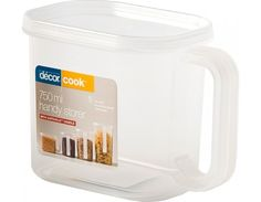 Décor Cook Handy Storer 750 ml These handy storers are suitable for storage in the pantry and fridge. Available in four useful sizes, they have safehold™ handles, easy soft-seal lids and are clearly marked with metric graduations.