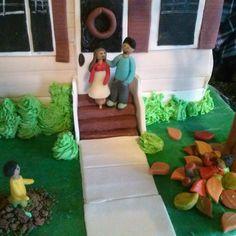 house shaped cake