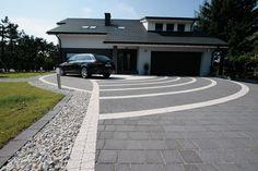 Podjazd do domu z kostki betonowej