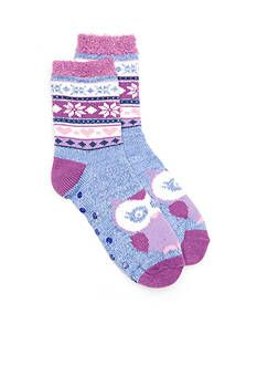 New Directions® Critter Fair Isle Duo Layer Slipper Socks - Single Pair