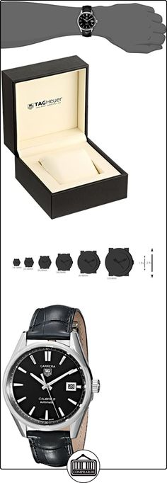 TAG Heuer WAR211A.FC6180 - Reloj para hombres, correa de cuero color negro  ✿ Relojes para hombre - (Lujo) ✿