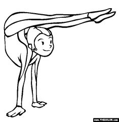 contortionist coloring page free contortionist online coloring