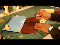 How To Make A Leather Clutch Bag Part 5 of 5 - YouTube