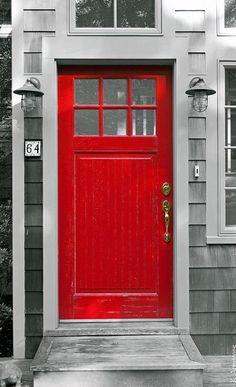 red & grey
