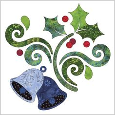 (7) Name: 'Quilting : Applique Add On's- Deck the Halls #2