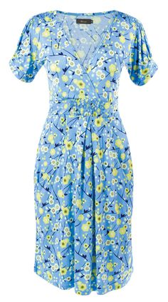 Amari Abbey Dress - A short sleeved dress with summery floral print. Elasticated at the waist with front pockets. #myhigh