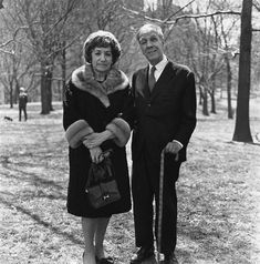 Jorge Luis Borges and His Wife by Diane Arbus