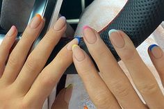 Kylie Jenner's latest nail art is a modern twist on the French manicure Simple Acrylic Nails, Summer Acrylic Nails, Best Acrylic Nails, Simple Nails, Easy Nails, Manicure, Gel Nails, Perfect Nails, Gorgeous Nails