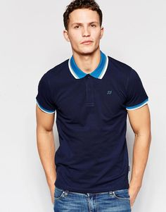 Buy Jack & Jones Pique Polo Shirt with Retro Contrast Collar at ASOS. Get the latest trends with ASOS now. Pique Polo Shirt, Polo T Shirts, Polo Fashion, Mens Fashion, Style Fashion, Contrast Collar, Jack Jones, Knitting Designs, Shirt Style