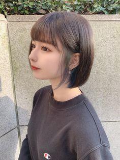 Asian Short Hair, Short Hair With Bangs, Cute Hairstyles For Short Hair, Asian Hair, Summer Hairstyles, Girl Hairstyles, Short Hair Styles, Girls In Love, Cute Girls