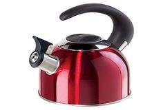 1.9-Liter Whistling Tea Kettle, Red on OneKingsLane.com