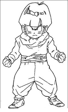 dragon ball full power goku super saiyan 3 coloring pages - dragon ... - Super Saiyan Goku Coloring Pages