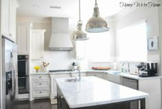 Clean and clear kitchen counters // Honey We're Home