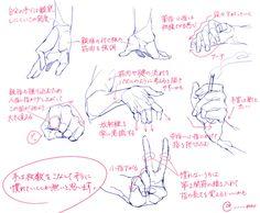 「個人的手の描き方」/「モヴ@ツイッター」の漫画 [pixiv]