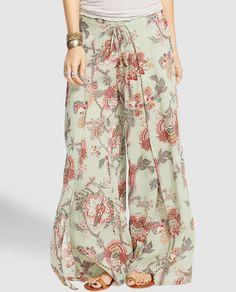 Pantalón ancho de mujer Denim & Supply Ralph Lauren estampado