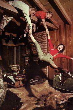 Dennis Hopper, Nick Adams, and Natalie Wood.