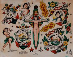 Sailor Jerry Flash Tattoo Designs
