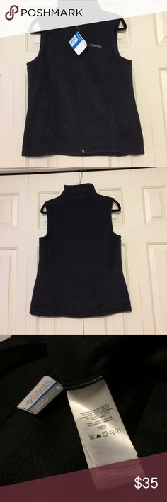 Black outer vest Never worn black outer vest. This piece will keep you warm on those chilly fall days. Columbia Jackets & Coats Vests