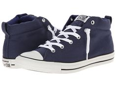 e1ebcbb72cbf Converse Chuck Taylor® All Star® Street Color Pop Canvas Mid Navy Trainers