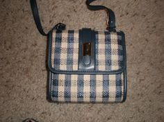 New Ladies Small Cross Body Bag Denim Look To it Adorable and Great Price Too!! free shipping