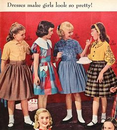 Women S Fashion Magazine Over 40 Vintage Dresses, Vintage Outfits, Vintage Fashion, Little Girl Dresses, Girls Dresses, Funny Christmas Pictures, Teen Boy Fashion, School Dresses, Dress Patterns