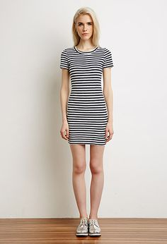 Striped Bodycon Dress   Forever 21 - 2000080520