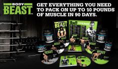 Everything you need to pack on 10 LBS of solid muscle in only 90 days!  I'm on day 40, and this is for real.  Men AND women are getting great results!