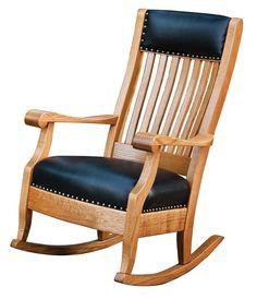 chairs - Grandmas Rocker in Living Room Buy Custom Amish Furniture Amish Rocking Chairs, Upholstered Rocking Chairs, Rocking Chair Plans, Wooden Rocking Chairs, Swivel Chair, Amish Furniture, Solid Wood Furniture, Woodworking Furniture, Woodworking Plans