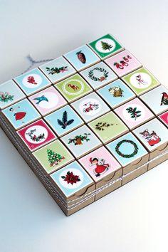 Advent Calendar / Vintage Style Decoration / by vintagemodernmix, $27.00