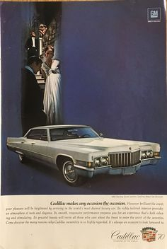 """1970 Cadillac """"Any Occasion"""" Vintage Magazine Ad from National Geographic"""