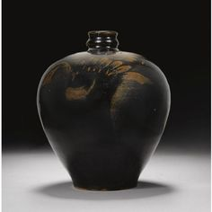 An extremely rare 'ge' brushwasher. Yuan dynasty. photo Sotheby's finely potted, the lobed flaring sides rising from a slightly...