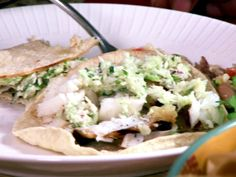 Grilled Southern Fish Tacos with Cabbage Slaw Recipe : Patrick and Gina Neely : Food Network - FoodNetwork.com