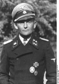 "SS Oberfuhrer Georg Bochmann, SS Division ""Totenkopf"",awarded Knight's Cross, on 17 May 1943, Kharkov, Russia. Later he would add Oakleaves 17.5.1943, then was 140th receipient of the Swords as commander of the 18th Pz. Gr. Div. ""Horst Wessel"" Great combat service."