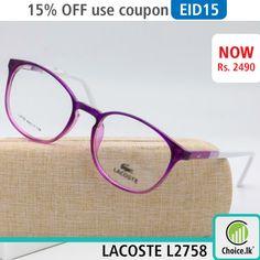77e4a1d183e LACOSTE original HD image medical frame Price in Sri Lanka 2490 available  at choice.lk