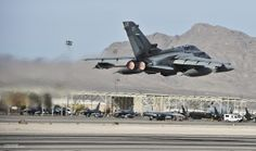 A Royal Air Force Tornado GR4 taking off from Nellis Air Force Base during Exercise Red Flag