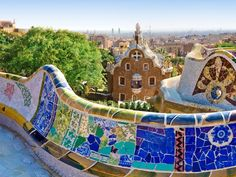 Park Guell- Barcelona  Best spot to see all of Barcelona