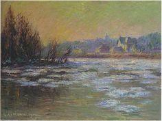 """""""Glace sur la rivière Oise (1914)"""", 1914 de Gustave Loiseau (1865-1935, France)"""
