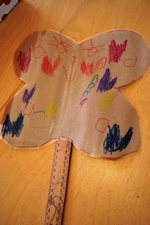 Create this beautiful butterfly out of a paper bag.