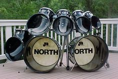 """North Drums double bass drum kit in black - """"Sound that projects. Looks that command"""""""