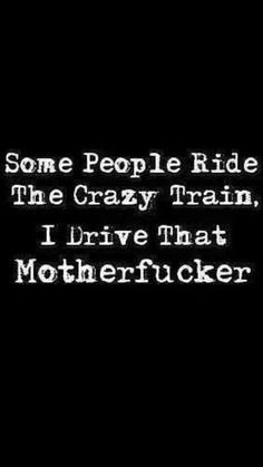 2016 Result Some people ride the crazy train. I drive that motherfucker.Some people ride the crazy train. I drive that motherfucker. Sarcastic Quotes, Sassy Quotes, Great Quotes, Me Quotes, Funny Quotes, Funny Memes, Hilarious, Quotes On Sarcasm, Funny Drinking Quotes